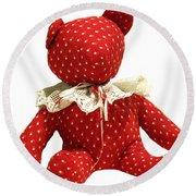 Teddy Bear Of Love Round Beach Towel