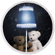 Teddy Bears Round Beach Towel by Joana Kruse