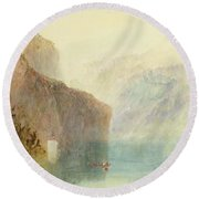 Tell's Chapel - Lake Lucerne Round Beach Towel