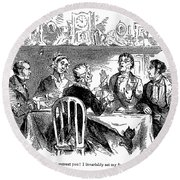 Temperance Movement, 1856 Round Beach Towel