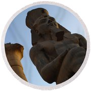 Temple Of Luxor Ramses Ll Round Beach Towel