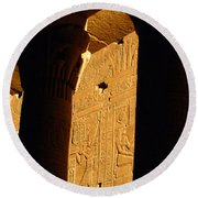 Temple Of Philea Egypt Round Beach Towel
