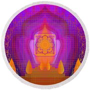 Temple Of The Inner Flame 2012 Round Beach Towel