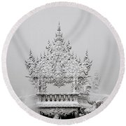 Temple Round Beach Towel
