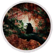 Tempting Fate Round Beach Towel by Andrew Paranavitana