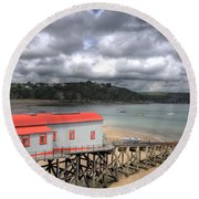 Tenby Lifeboat House Round Beach Towel