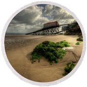 Tenby Lifeboat Ramps Round Beach Towel