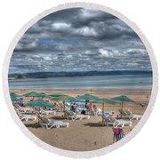 Tenby North Beach 3 Round Beach Towel