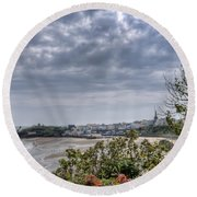 Tenby Pembrokeshire Round Beach Towel