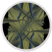Tendrils Round Beach Towel