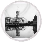 Tennessee Centennial - Nashville - Auditorium - C 1897 Round Beach Towel by International  Images