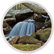 Tennessee Waterfall 5962 Round Beach Towel