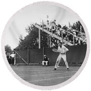 Tennis Player, C1920 Round Beach Towel