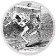 Tennis: Wimbledon, 1880 Round Beach Towel