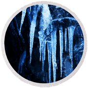Tentacles Of Ice Round Beach Towel