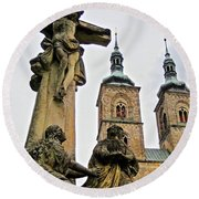 Tepla Monastery - Czech Republic Round Beach Towel