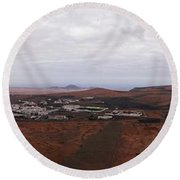 Tequise From Guanapay Castle  Round Beach Towel