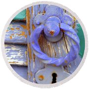 Terrace Door Round Beach Towel