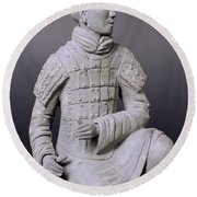 Terracotta Warrior  Round Beach Towel