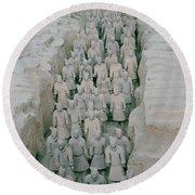 Terracotta Warriors In Xian In China Round Beach Towel