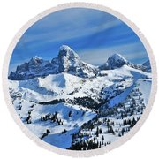 Teton Winter Round Beach Towel
