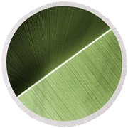 Patterns And Colors. Green. Round Beach Towel