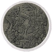 Tezcatlipoca And Huitzilopochtli Round Beach Towel