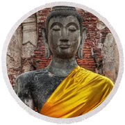 Thai Buddha Round Beach Towel by Adrian Evans