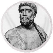 Thales, Ancient Greek Philosopher Round Beach Towel by Science Source