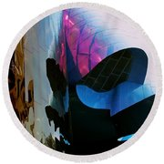 Thank You Frank Gehry Round Beach Towel