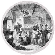 Thanksgiving, 1855 Round Beach Towel