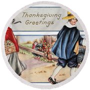 Thanksgiving, C1900 Round Beach Towel