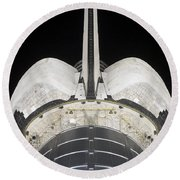 The Aft Portion Of The Space Shuttle Round Beach Towel by Stocktrek Images