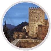 The Alcazaba The Alhambra Round Beach Towel