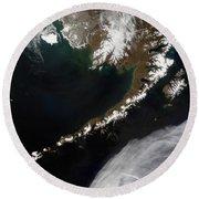 The Aleutian Islands And The Alaskan Round Beach Towel