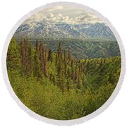 The Alsek Mountains Along The Haines Round Beach Towel
