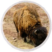 The American Buffalo Round Beach Towel