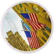 The American Flag Round Beach Towel