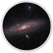 The Andromeda Galaxy Round Beach Towel