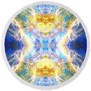The Angel Of Clearing Round Beach Towel