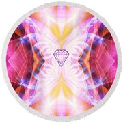 The Angel Of Confidence And Self Worth Round Beach Towel