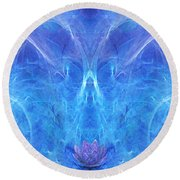The Angel Of Grace Round Beach Towel