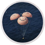The Apollo 16 Command Module Round Beach Towel