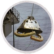 The Apollo 9 Command Module Is Hoisted Round Beach Towel