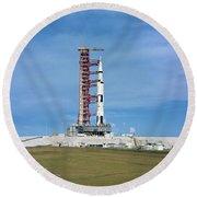 The Apollo Saturn 501 Launch Vehicle Round Beach Towel