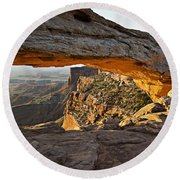 The Arch, Arches National Park, Moab Round Beach Towel