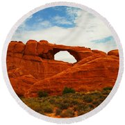 The Arches Of Utah Round Beach Towel