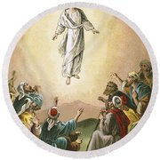 The Ascension Round Beach Towel