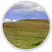 The Ascent Of Mam Tor Round Beach Towel