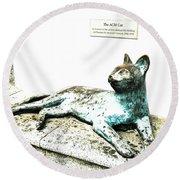 The Asian Civilisations Museum Cat Round Beach Towel